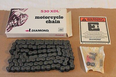 NEW! Diamond 530 XDL (DURALUBE) Harley Davidson Rear Drive Chain 110 Links