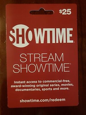 Showtime - Fast Card - Instant Access to Stream Showtime Gift Card Worth $25