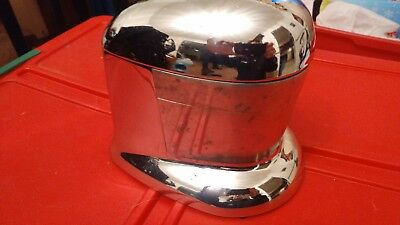 "Vintage Rival Chrome Juice-O-Mat ""Tilt Top"" Juicer, # NJ-848 Chrome & Aluminum"