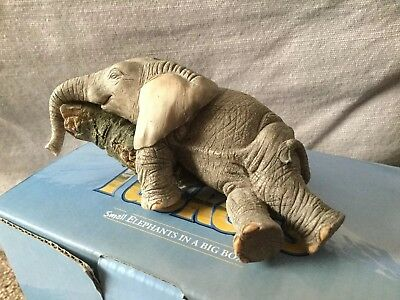 """Tuskers Elephant """"tiny Tess"""" All Worn Out 91042 Hand Painted. Country Artists"""