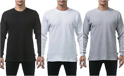 Pro Club Heavyweight Long Sleeve Snow White Thermal Size M-7 XL Mens Thermal
