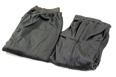 New USGI ECWCS Large Cold Weather Lightweight Underwear Set Pants/Shirt Black
