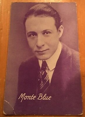 Monte Blue  Photo 1928 Arcade Exhibit Post Card Nice