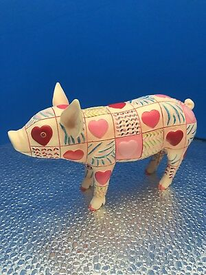 "New This Little Piggy ""Hearts Pig"" Resin Pink Pig Figurine By Westland Giftware"