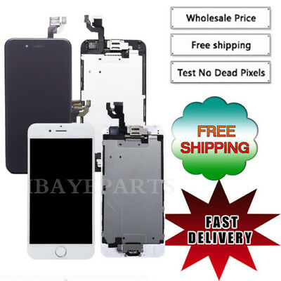 AA For iPhone 6 A1549 A1586 LCD Touch Screen Replacement with Home Button+Camera