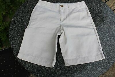 Used Child's 'Lands' End' Cream Shorts, Size 12-13 years
