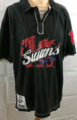 Swansea City official football supporters layer look T-shirt size L  Large Men's