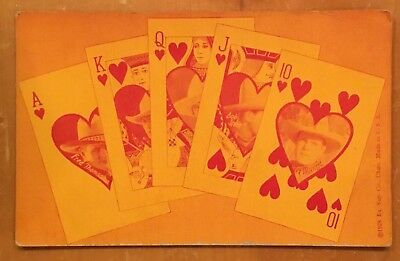 Fred Thompson Bob Steele Tex Maynard 1928 Royal Flush Arcade Exhibit Post Card