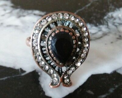 ancient roman bronze ring stunning with stones colored