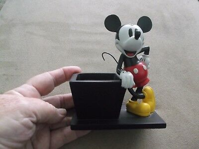 Disney Mickey Mouse Office Desk Top Accessory Paper Clip Magnet Holder