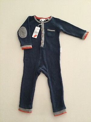 Brand New Purebaby Waffle Growsuit Size 6-12 Months