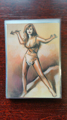 Huy Truong Sketch Card Island Dreams 2018 Original Art Pin Up