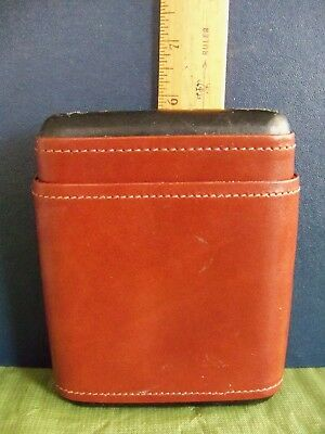 Corona Cigar Case, Brown Leather, Used