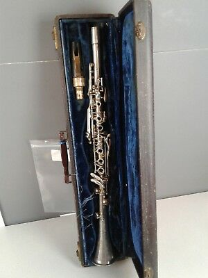 Vintage Barone silver clarinet needs repairs made in the USA