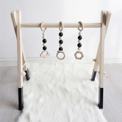Natural Wood Baby Play Gym Frame Center Kid's Room Nursery Decor Without Toys