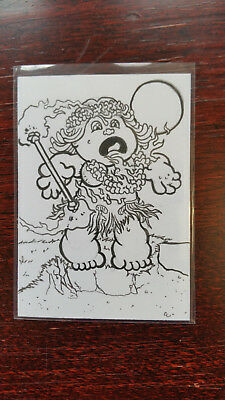 K. Grimm Sketch Card Island Dreams 2018 Original Art Pin Up