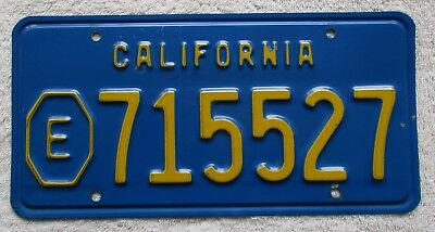 """1970's California """"blue base"""" Exempt License Plate, Fire, Police"""