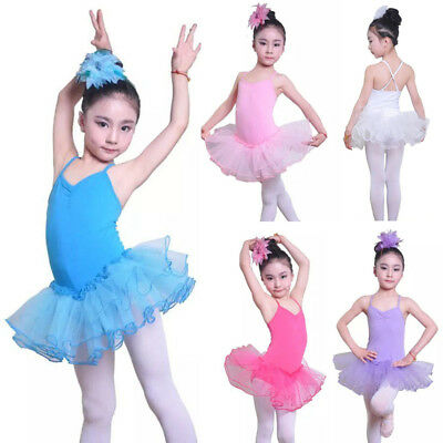 Girl Kid Ballet Leotard Tutu Skirt Dress Ballerina Gymnastics Dancewear Costume