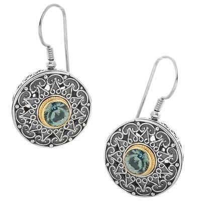 S191 ~ Sterling Silver & Swarovski Medieval Drop Earrings