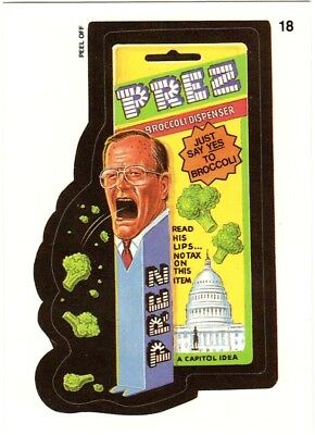 "Wacky Packages 1991 Series ""PREZ DISPENSER"" #18 Sticker Card"
