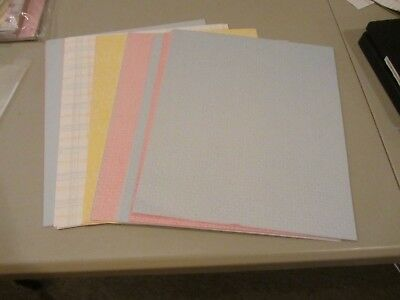 Creative Memories 10x12 POWDER BLUE Photo Mounting Paper CARDSTOCK 10 Sheets