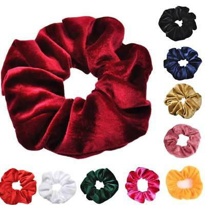 1X Velvet Scrunchies Ponytail Holder Hair Accessories Lot Elastic Hair Band HOT