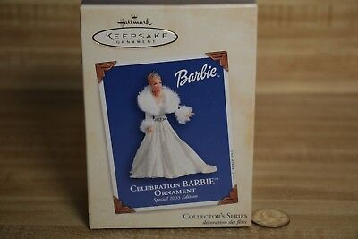 Hallmark Keepsake Christmas tree Ornament Barbie Special 2003 Edition white gown