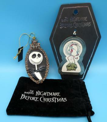 2 Haunted Mansion Holiday Jack Skellington Ornaments Nightmare Before Christmas
