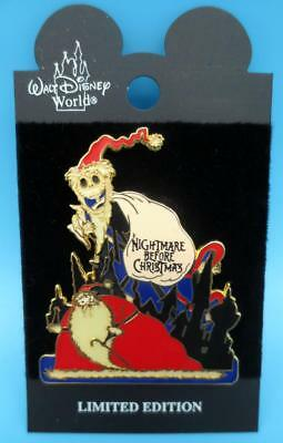 Disney Nightmare Before Christmas Jack SANDY CLAWS  GLOW In The DARK Pin LE  NBC