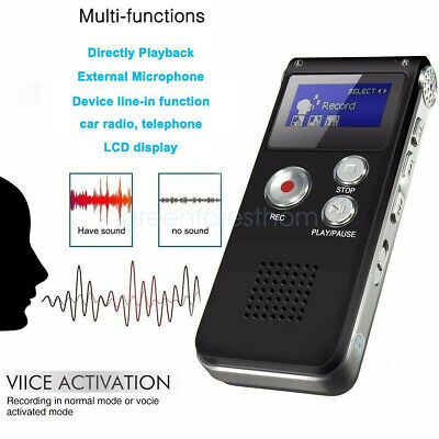8GB Portable LCD Metal Digital Audio Voice Recorder Dictaphone MP3 Player U Disk
