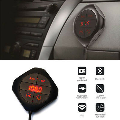 Wireless Bluetooth USB Car Kit LCD SD FM Transmitter MP3 Player Handsfree Magnet