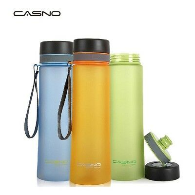 3 Colors 600/1000ML Sports Drinking Water Bottle Outdoor Camping Hiking Cycling