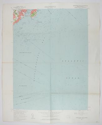 Marblehead South Massachusettes Vintage USGS Topographic Chart Topo Map