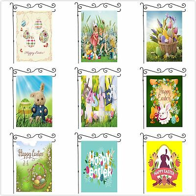 Easter Eggs Bunny Ass Large Garden Flag Yard Banner House Gift Flags 28x40 Inch