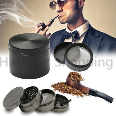 "4 Layers Tobacco Grinder Herb Spice Herbal 2"" Zinc Alloy Smoke Crusher Metal US"