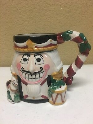 Tis The Season Nutcracker Christmas Holiday Ceramic Hand Painted Mug