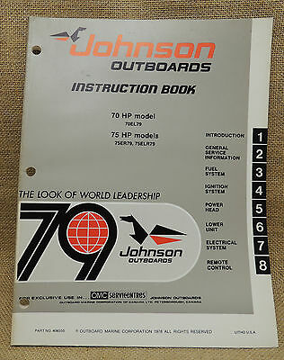 Johnson Seahorse Outboard Service Repair Manual 1979 70 75 hp  part#406550
