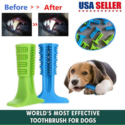 Dog Toothbrush Brushing Stick Pet Teeth Cleaning Chew Toy For Dogs Pet Oralcare