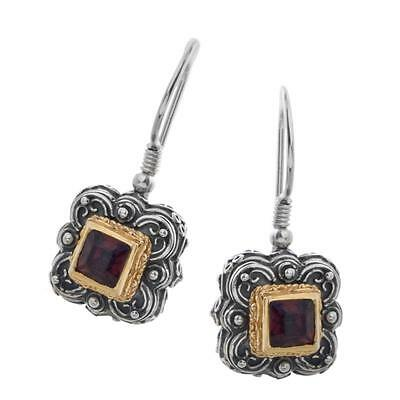 S195 ~ Sterling Silver & Swarovski Medieval Drop Earrings