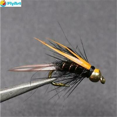 6 WEIGHTED FLIES ALASKA FLESH FLY SET. FISHING FOR  RAINBOW TROUT GRAYLING