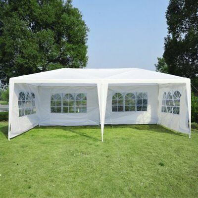 Canopy Party Outdoor Wedding Yard Garden Tent 4 Removable Walls 10' x 20' White