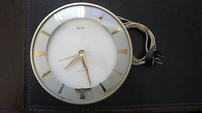 Vintage Retro Smiths Sectric 240V Electric Large Wall Clock Working