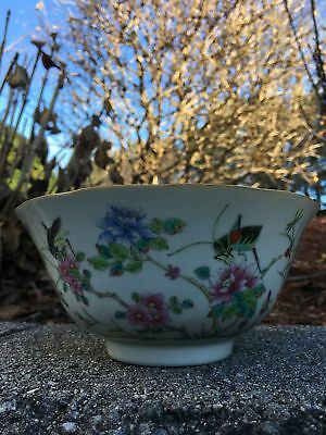 Superb Chinese Qing Period Famille Rose Porcelain Antique Bowl