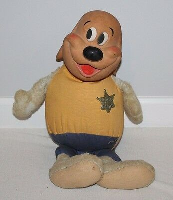 Vintage Rubber Stuffed Plush Hanna Barbera Deputy Dawg Figure Ideal Dog Rare Toy