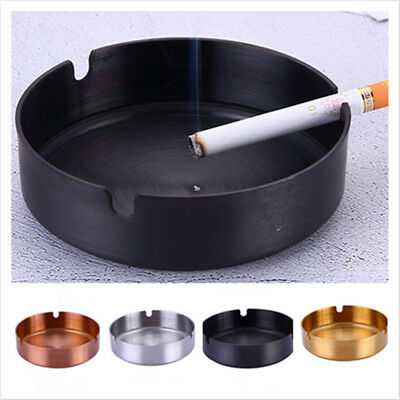 Round Stainless Steel  Tabletop Cigarette Internet Cafe Restaurant Ashtray