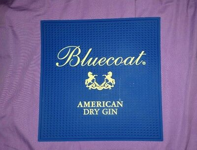 "BLUECOAT AMERICAN Dry Gin Bar Spill Mat SQUARE 12""x12"" NEW"