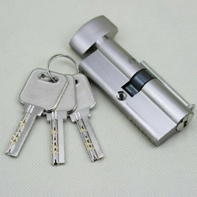Silver Tone Cylinder Hardware Indoor Aluminum Security Gate Home Door Lock pre