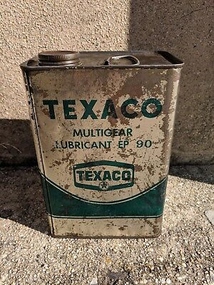 Texaco Multigear Lubricant Motor Oil 1 Gallon Can Gas Service Station