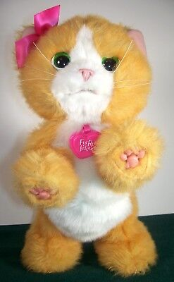 Electronic, Battery & Wind-up Toys & Hobbies Devoted Furreal Friends 2012 Cat Kitten Fur Real Working By Hasbro
