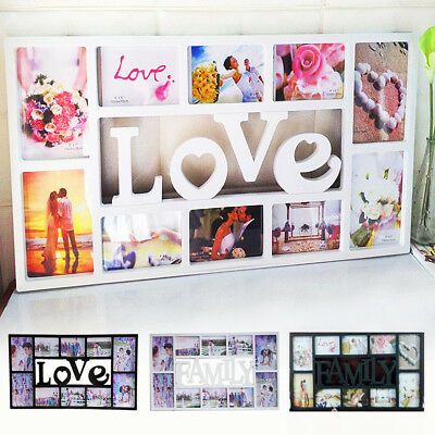 Multi Aperture Photoframe Family Love Friends Collage Picture Wall Photo Frame